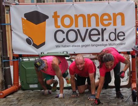 Tonnencover Hindernis bei den Rats-Runners